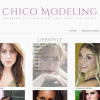 Homepage & categories: On hover, model stats appear for easier fashion modeling booking needs